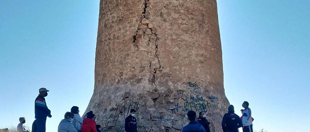 La Torre del Barranc d'Aigües el pasado mes de enero, durante una ruta ambiental. | INFORMACIÓN