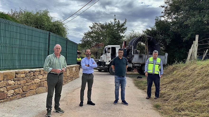 Siero inicia la obra de mejora de la red de abastecimiento de El Cuto y Corripos