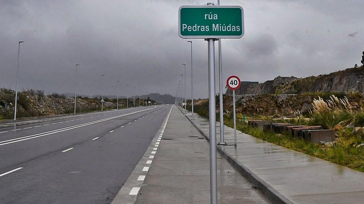 Vista de una calle en el polígono de Morás, en Arteixo.   | // CARLOS PARDELLAS