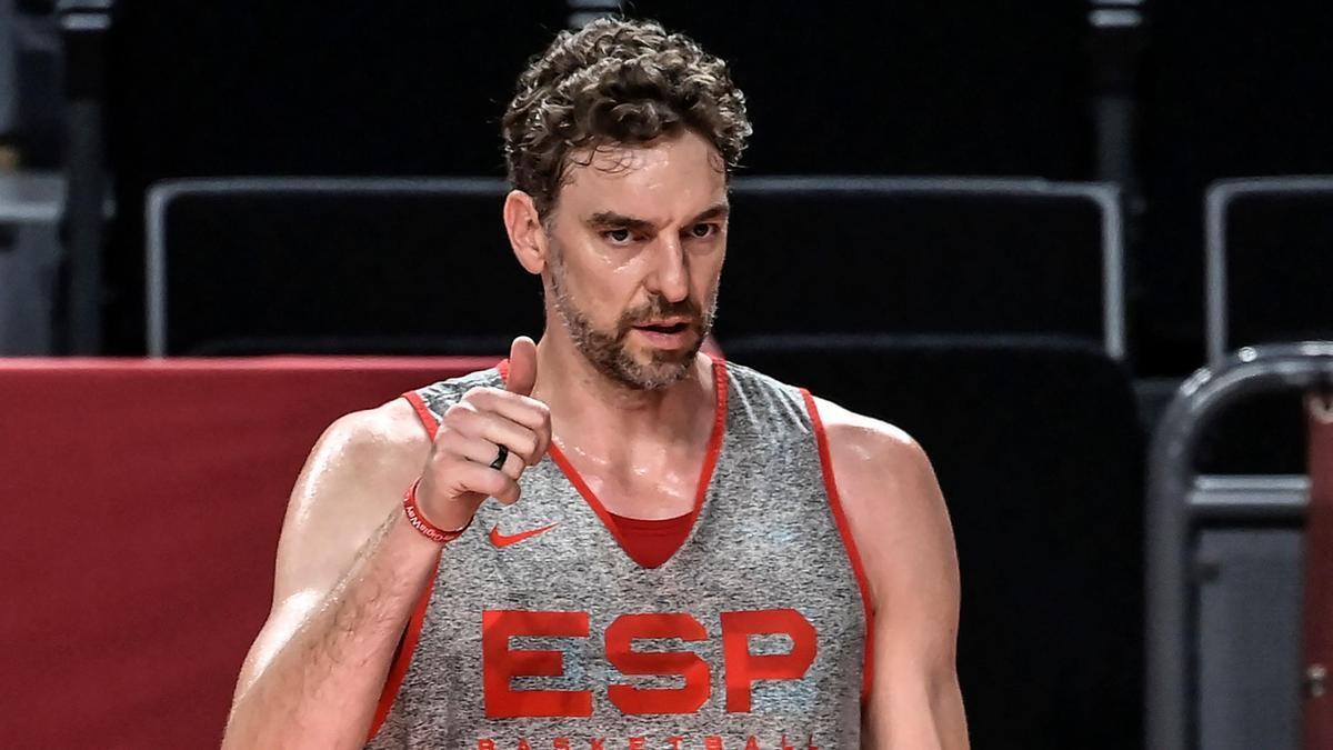 El jugador de baloncesto de la selección española, Pau Gasol.