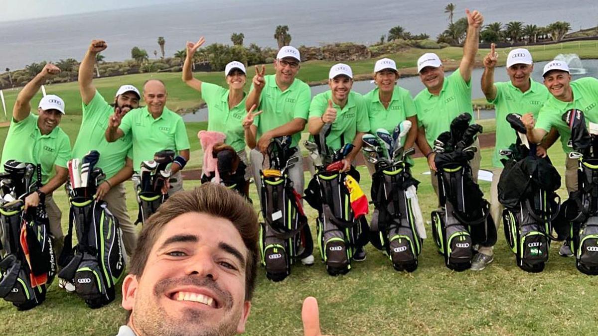 El equipo español de la final de 2019, con Mauricio Marín en primer plano y tres murcianos. | L.O.