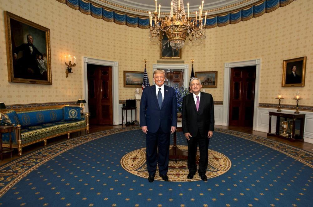 Reunión entre Trump y López Obrador.