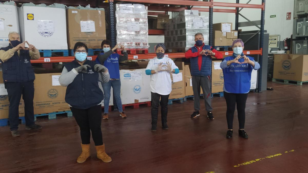 Los voluntarios agradecen las donaciones