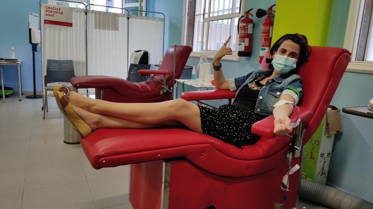 Donante de sangre del ICHH.