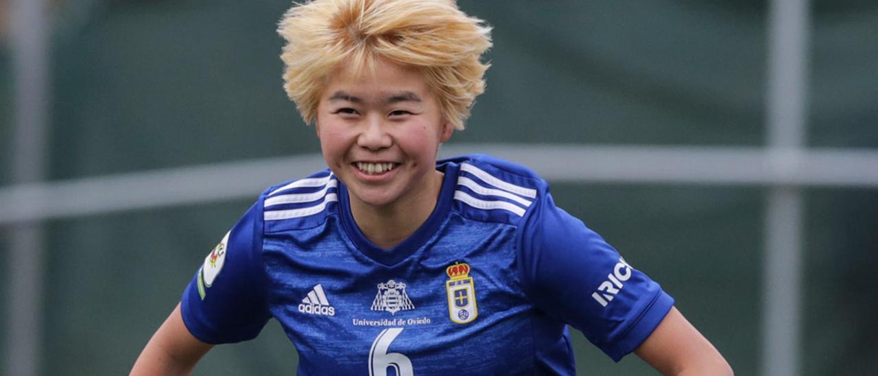 Yuki, en un partido con el Oviedo Femenino.   I. C.