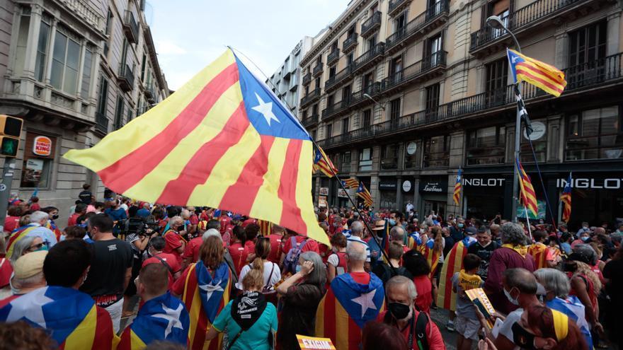 Una Diada con menor afluencia toma las calles de Barcelona