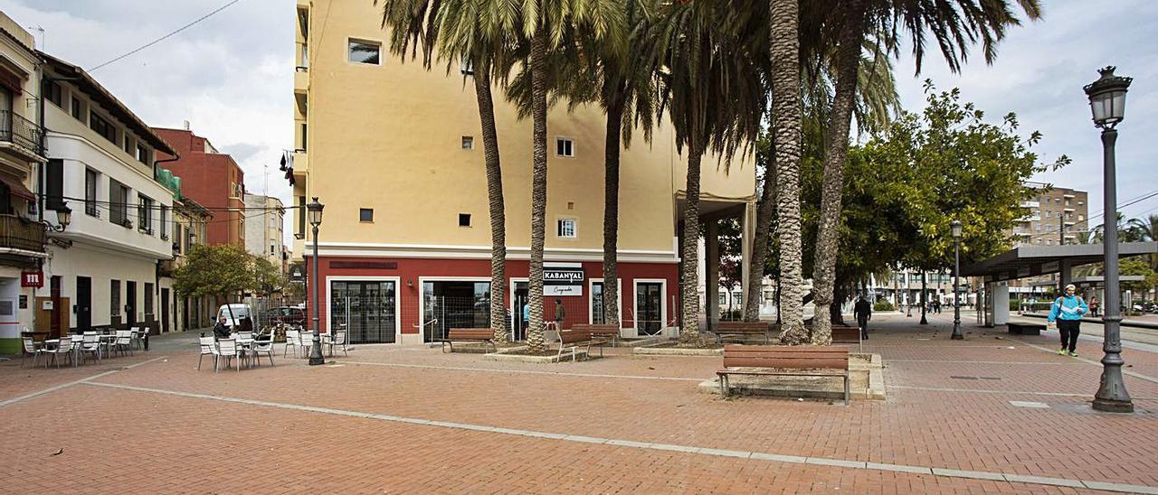 La aún plaza de la Armada Española, en una fotografía de ayer mismo. | G.CABALLERO