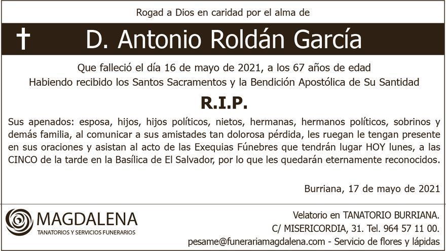 D. Antonio Roldán García