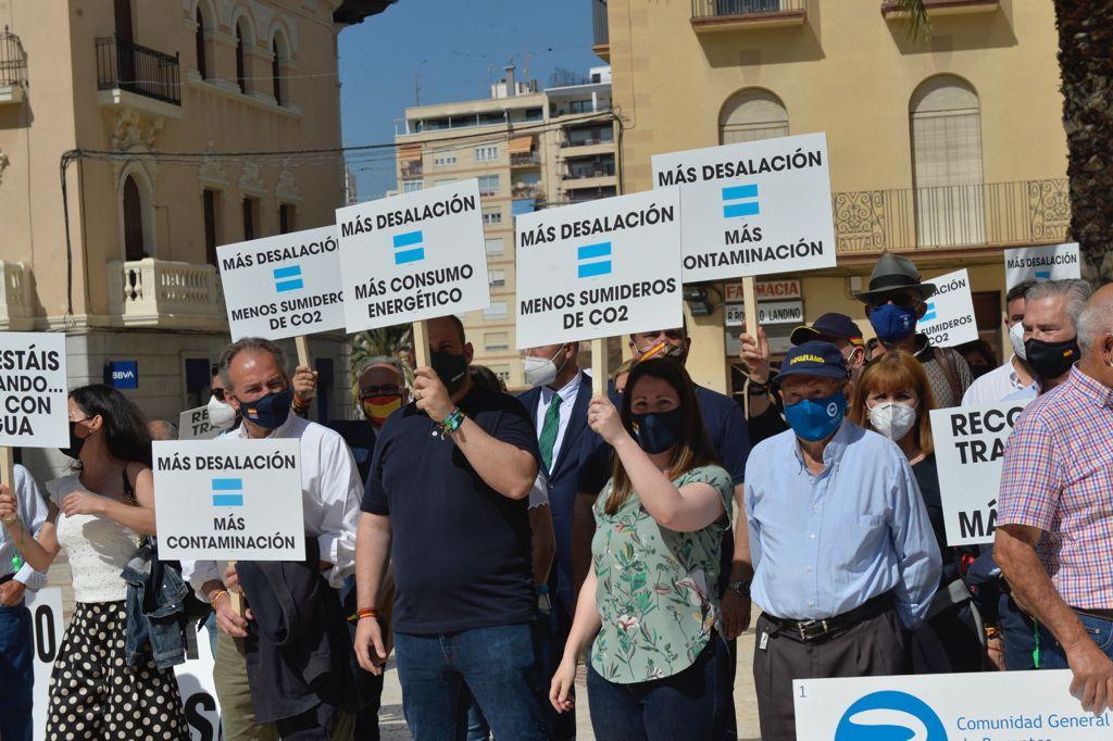 Las imágenes de la manifestación en defensa del Trasvase Tajo-Segura en Elche