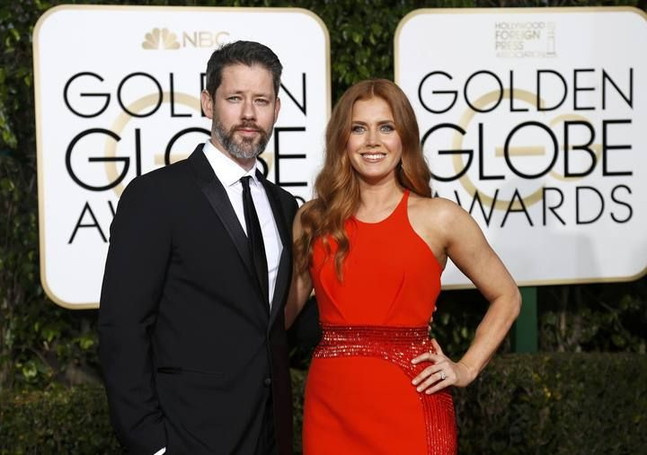 Amy Adams and Darren Le Gallo arrive at the 73rd Golden Globe Awards in Beverly Hills