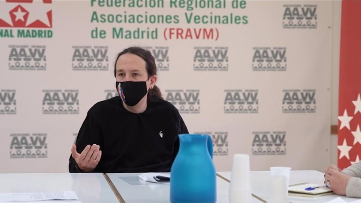 Pabo Iglesias, candidato de Unidas Podemos.
