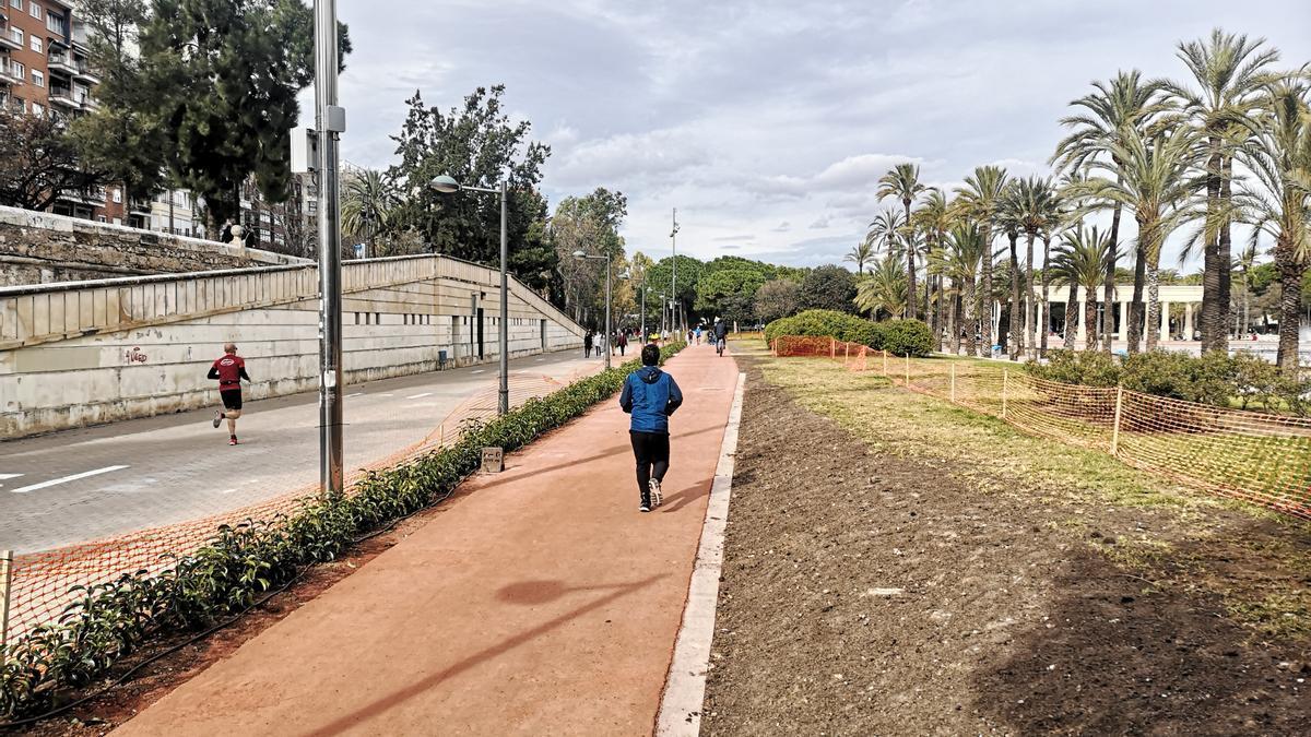Completada la reforma del circuito 5K en el Jardín del Turia