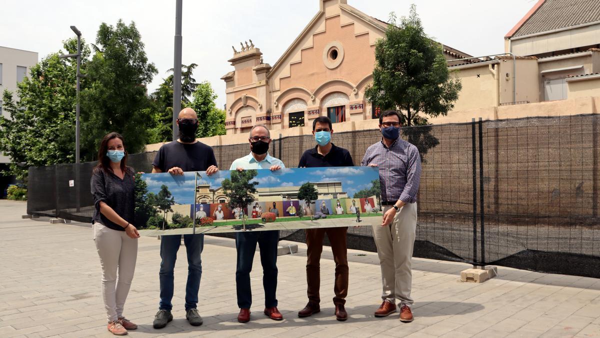 Presentació d'una imatge de com serà el mural que s'instal·larà a Igualada
