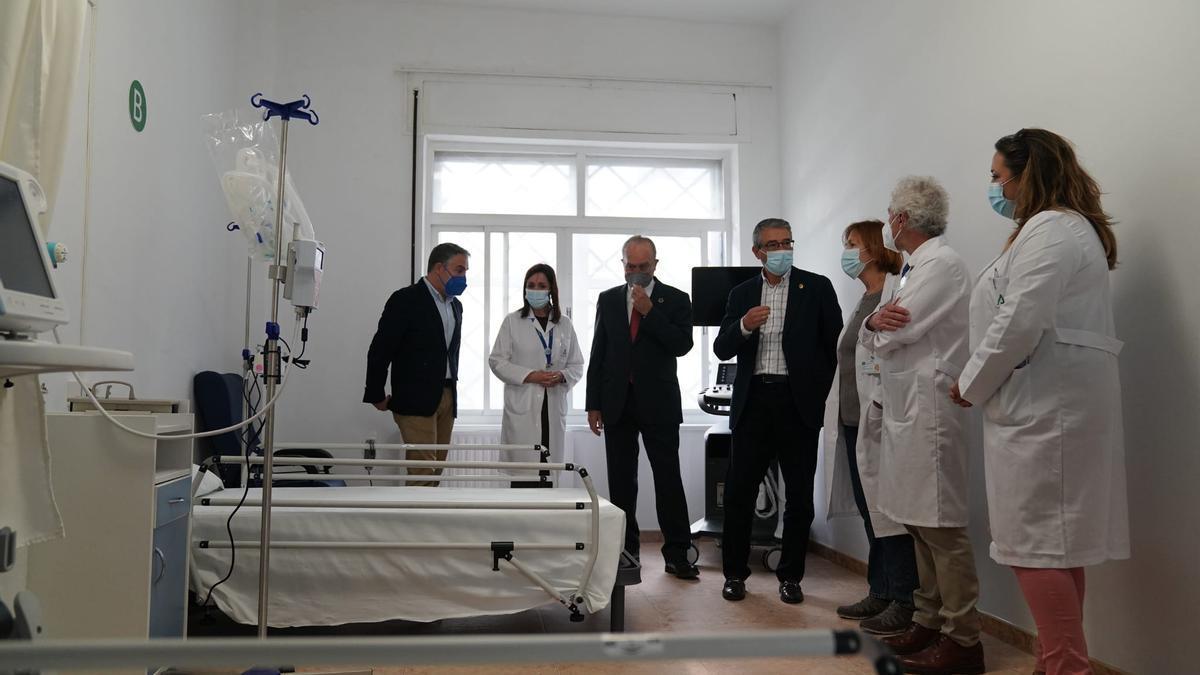 Visita a las instalaciones del Centro Guadalmedina para atender a pacientes leves de Covid.