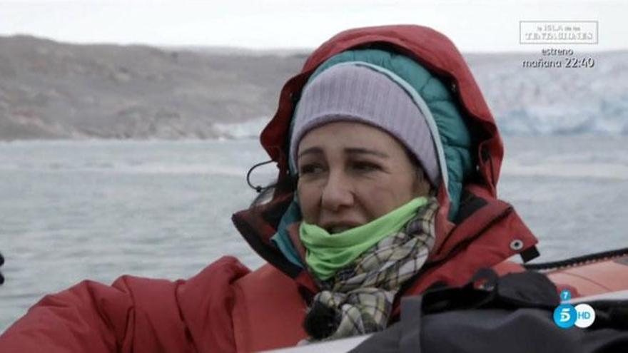Ana Botín vio icebergs y habló de su padre