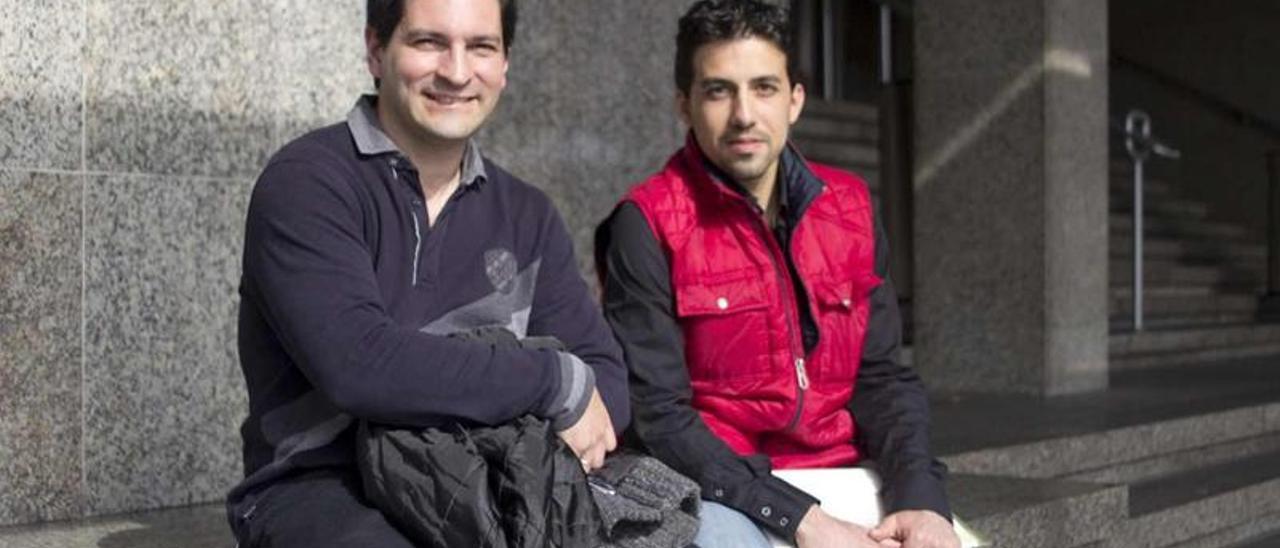 Esteban Gómez y Antonio Vázquez, dos de los promotores de la denuncia.