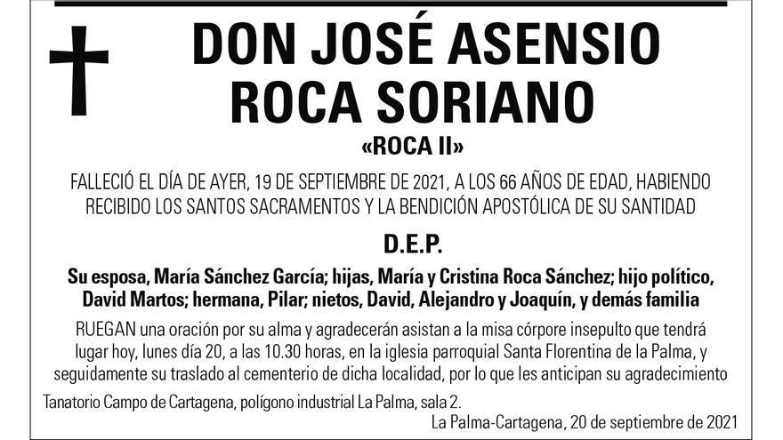 D. José Asensio Roca Soriano