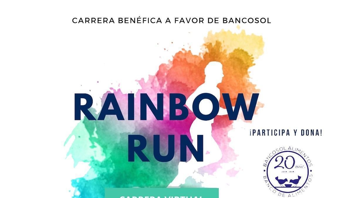 Cartel de la primera edición de la Rainbow Run Málaga.