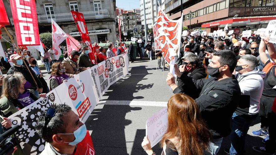 Así fue la manifestación del Primero de Mayo en Vigo.