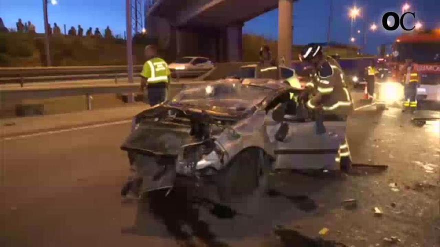 Tráfico reconstruye este martes el triple accidente mortal de la AP-9, en Teis