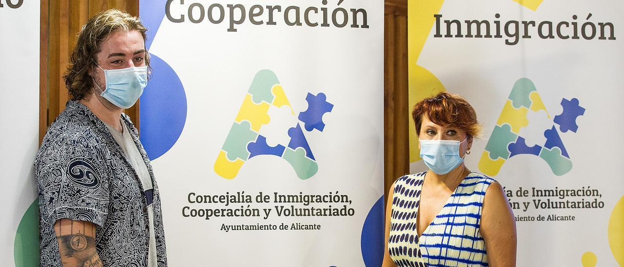 María Conejero durante la presentación de la nueva imagen de la Concejalía de Cooperación el pasado año