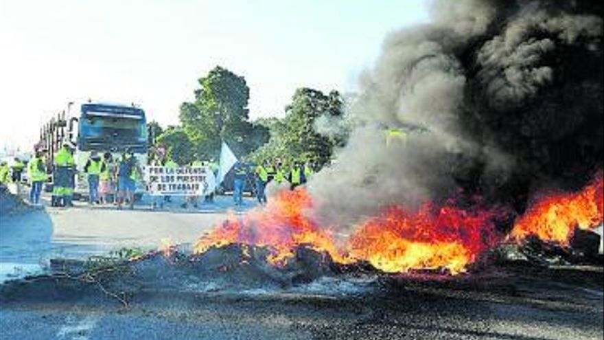 Trabajadores de Ence colapsan Pontevedra
