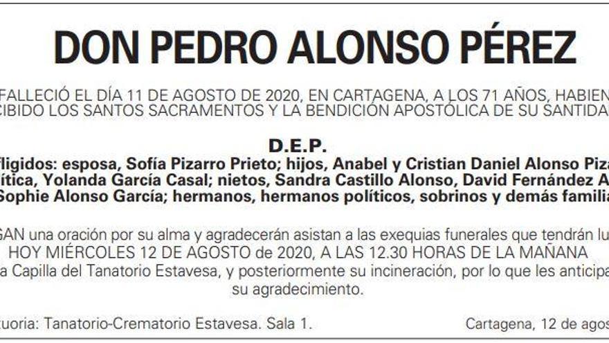 D. Pedro Alonso Pérez