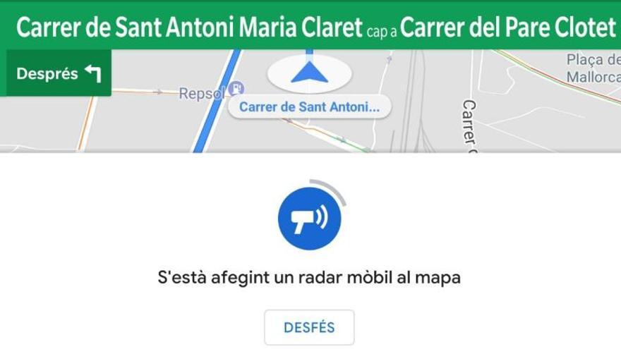 Google Maps ja avisa dels radars: com funciona?