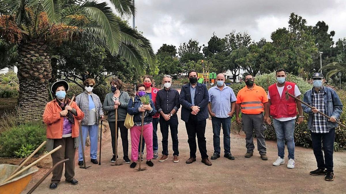 Un grupo de mayores participantes en la iniciativa.