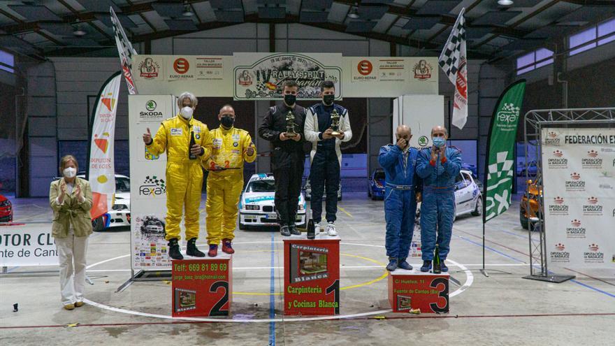 Argueta y Flores se imponen en el cuarto RallySprint Zurbarán
