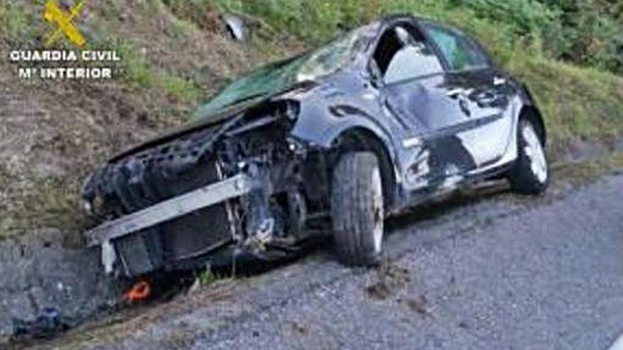 Investigado un conductor temerario cazado en vídeo antes de accidentarse en Valga