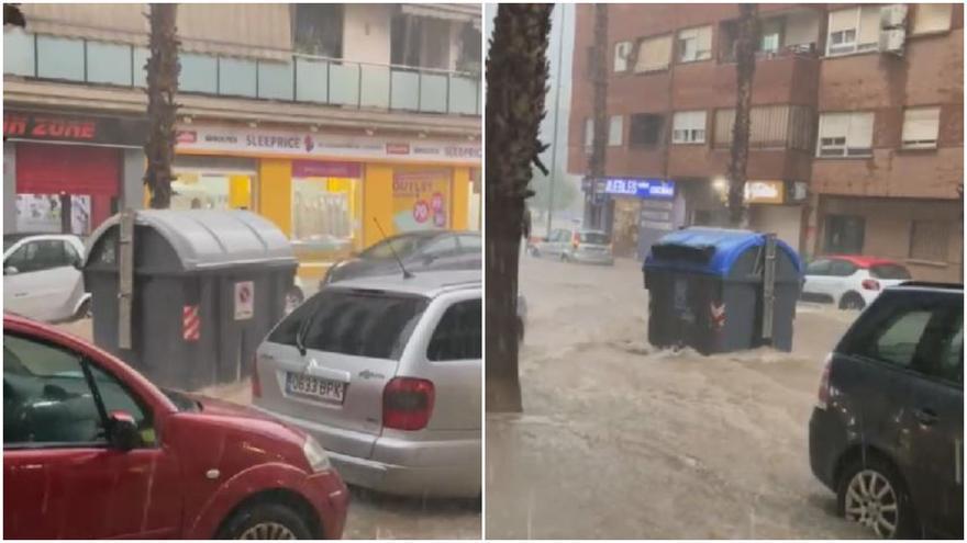 Carrera de contenedores flotando en las calles de Torrent