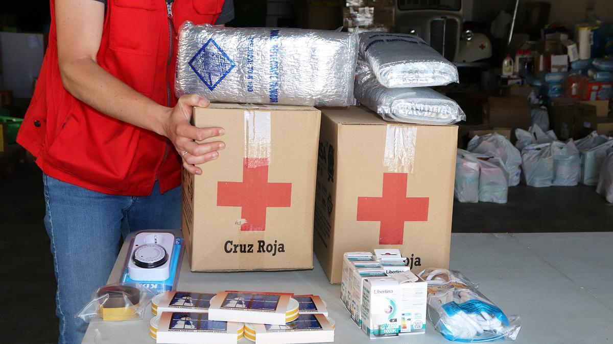 Ayudas y kits energéticos en Cruz Roja de Zamora.