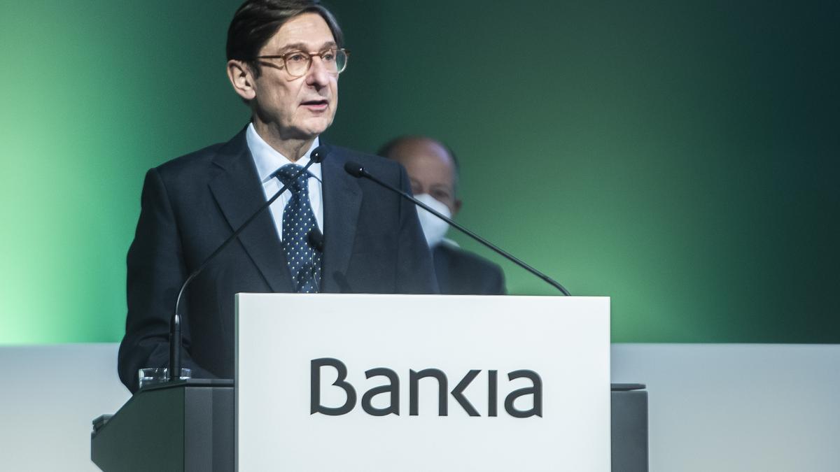 José Ignacio Goirigolzarri, este mediodía en la junta de Bankia en València