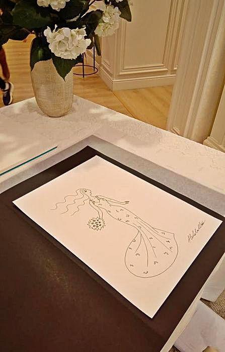 Alex Ceball dibuja un día para recordar: la prueba final del vestido de novia |