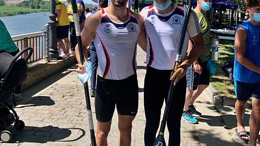 Miguel Llorens y Alberto Plaza ganan el Nacional de medio maratón de piragüismo