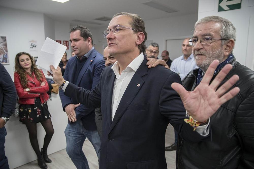 La jornada del 10-N, en la sede de Ciudadanos en Murcia