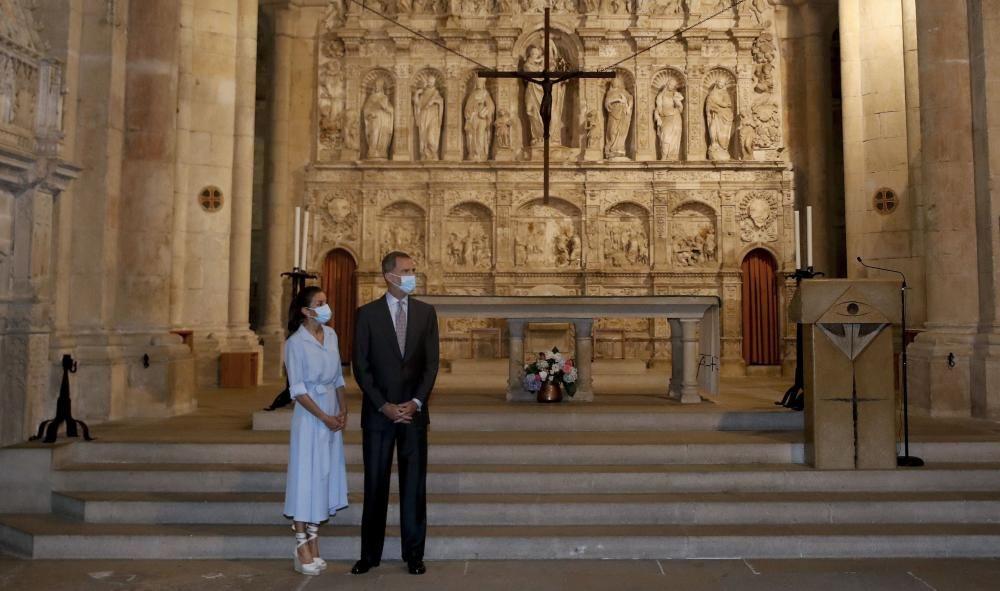 Visita de los Reyes al Monasterio de Poblet.