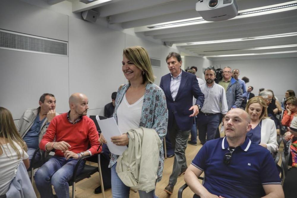Reunión de la Junta Territorial del PP de Palma y comparecencia de Mateo Isern para explicar las razones de su renuncia al acta de regidor