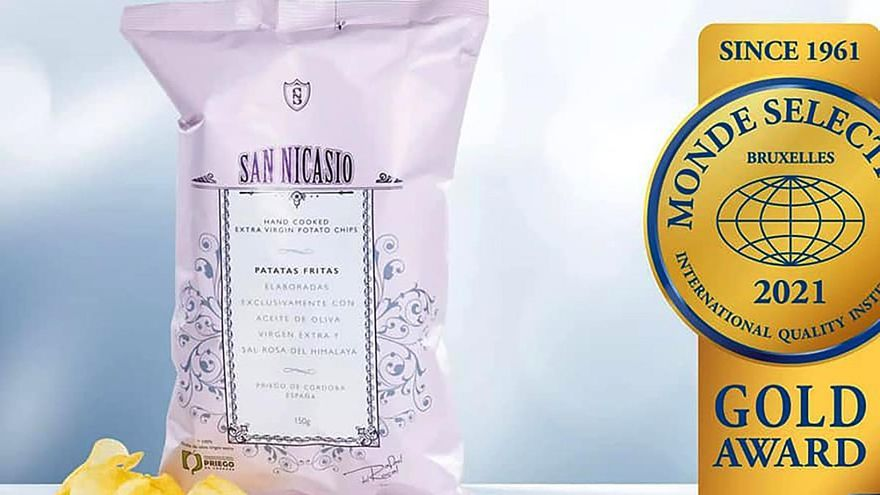 Patatas Fritas San Nicasio, galardonada nuevamente por el instituto Monde Selection de Bruselas