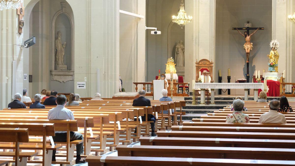 La iglesia de Santa Ana en Elda, en una fotografía de archivo