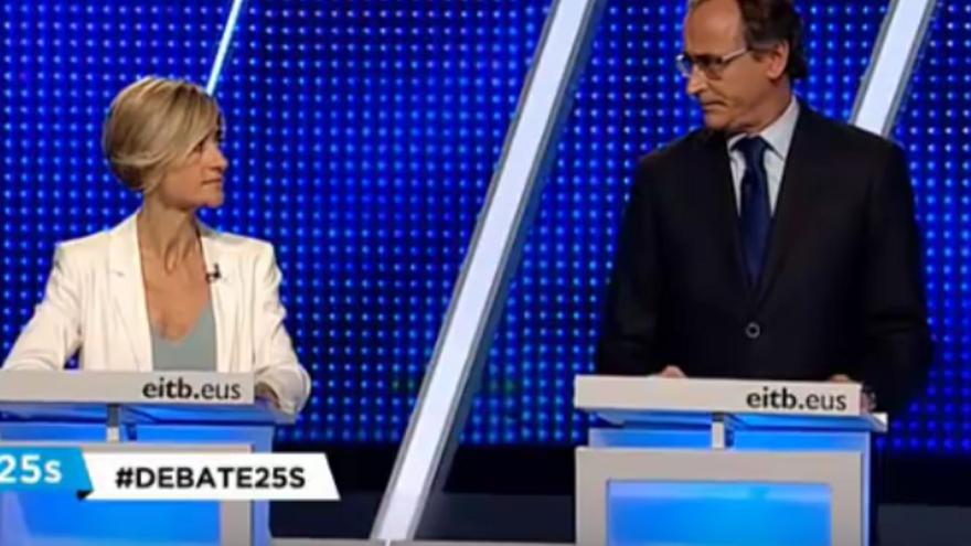 Els cinc segons més tensos del debat electoral basc
