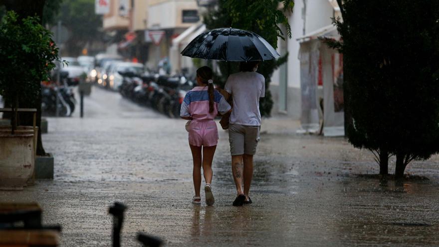 Alerta por lluvias y tormentas el viernes en Ibiza y Formentera