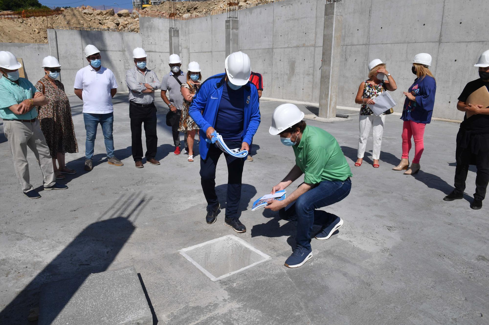 El nuevo complejo de piscinas de Pastoriza/Meicende, en obras