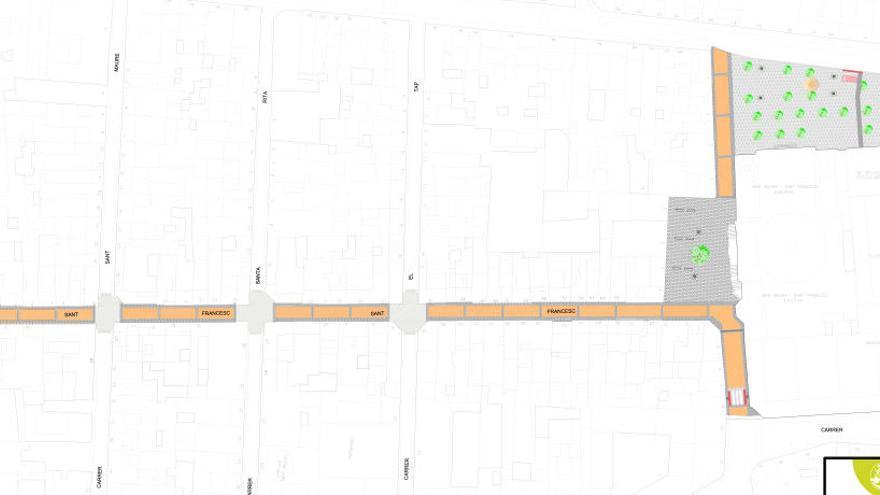 Alcoy aprueba el proyecto modificado para reurbanizar la calle Sant Francesc