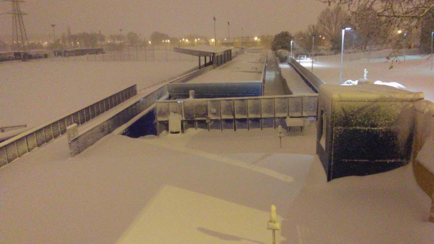 Imagen de las instalaciones del Getafe B, hoy sábado por la mañana