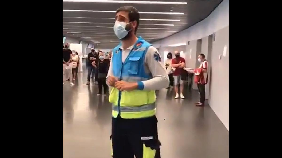 El enfermero del SUMM, durante su monólogo viral.