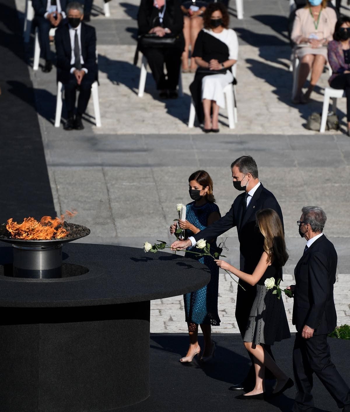 Homenaje de Estado a las víctimas del covid-19, en imágenes
