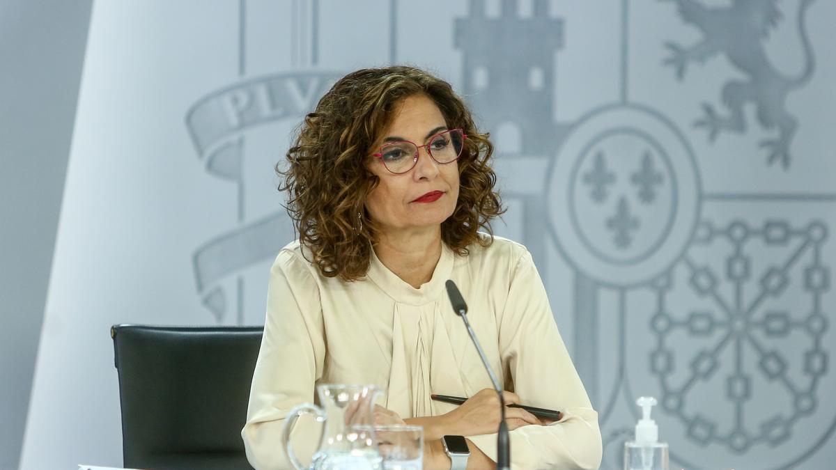 La ministra portavoz, María Jesús Montero.
