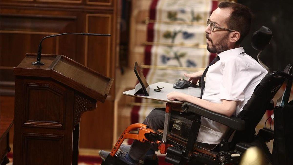 El portavoz parlamentario de Unidas Podemos Pablo Echenique.
